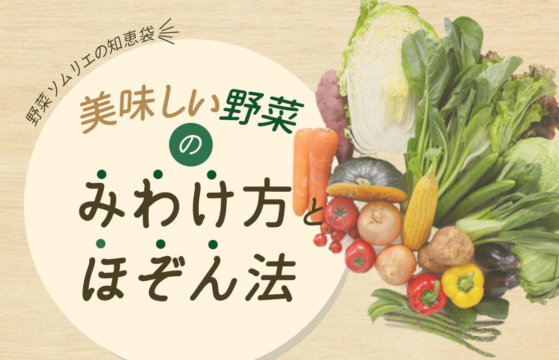 知るだけで「美味しい」が変わる!野菜ソムリエの知恵袋